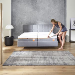 TEMPUR RELAX BED CHECK 110 GREY STOF MODEL MATRAS RITS 008 resized